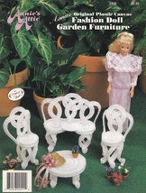 Fashion Doll Garden Furniture, Annie's Attic Plastic Canvas Pattern Book... - $2.95