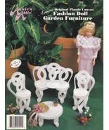 Fashion Doll Garden Furniture, Annie's Attic Plastic Canvas Pattern Book... - $2.95
