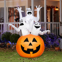 Halloween Yard Decor Ghost Pumpkin Party Outdoor Airblown Inflatable Dec... - $131.00 CAD