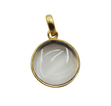 cute Crystal Quartz Gold Plated White Pendant Fashion wholesale US - $11.28