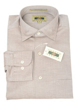 NWT Joseph Abboud Mens Brown Herringbone Button Front Dress Shirt CD3166... - €68,49 EUR