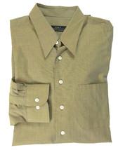 NWT R|S|T Robert Talbott Fine Weave Olive Green Long Sleeve Men's Dress ... - €58,56 EUR