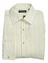 NWT Joseph Abboud Desert Odyssey Stripe Ivory Button Front Dress Shirt D... - €159,54 EUR