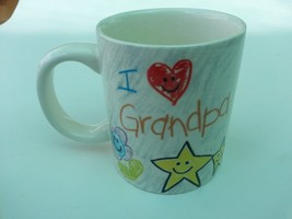 White Coffee mug  tea cup  I Love Grandpa Russ Berrie kids childs  - $16.81