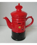 BRITISH POST MAIL BOX HAND PAINTED TEA or COFFEE POT by Price Kensington... - $24.24