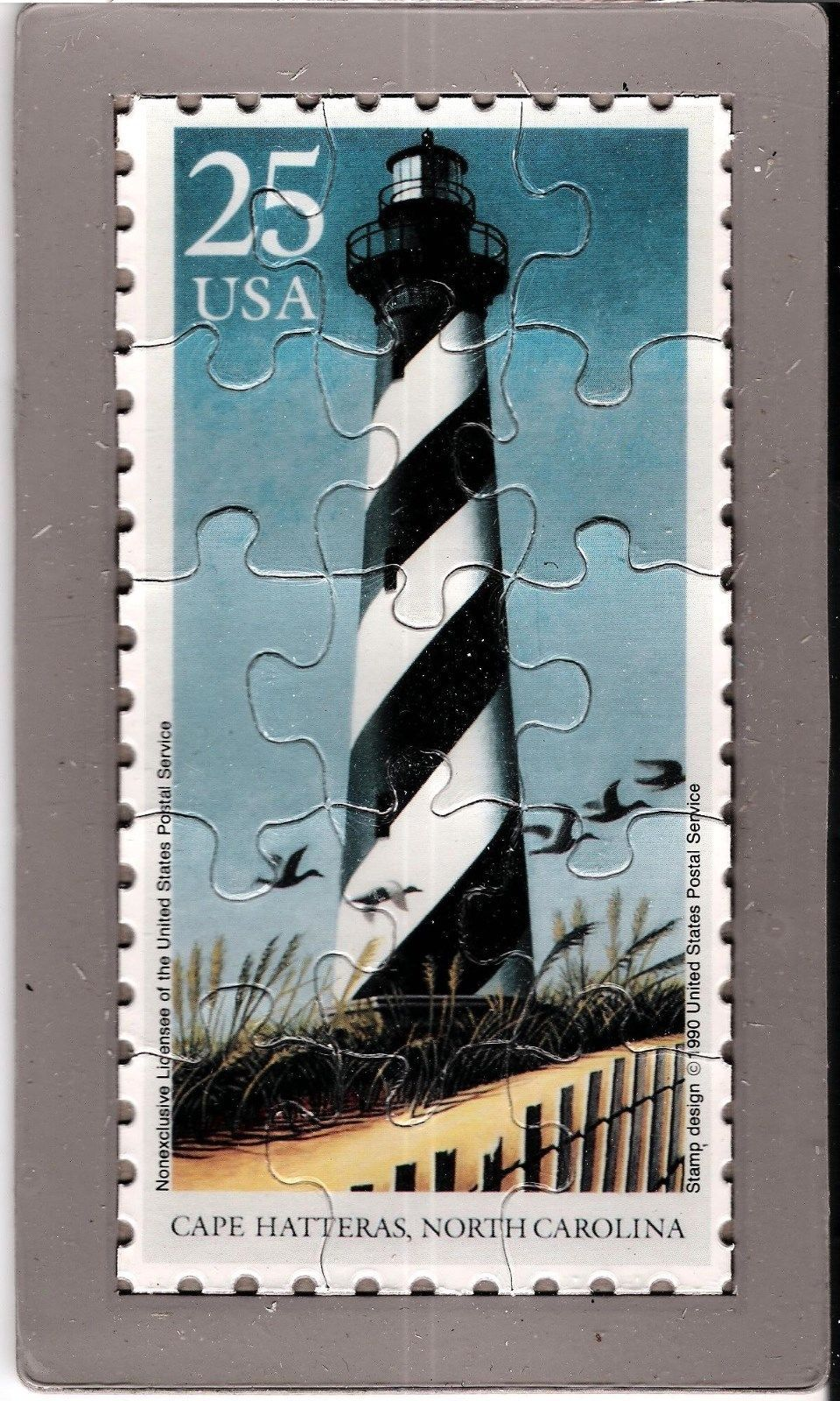 Primary image for USPS POSTCARD-Lighthouses Commemorative Puzzle series-Cape Hatteras, NC