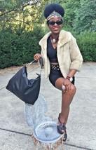 Fab Designer Simpson's cinnamon white blonde Mink Fur coat jacket bolero S-M 2-8 - $699.99