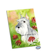 Silver_gray_miniature_schnauzer_sitting_rosy_coneflowers_echinacea_by_denise_every_thumbtall