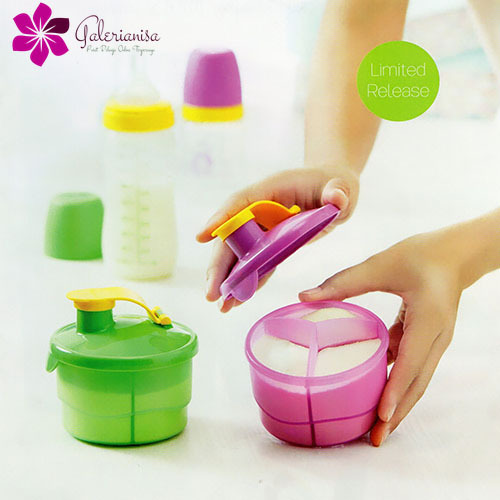 1 Set (2 pcs) Formula Dispenser Tupperware Kitchenware Powder Milk Container - $28.98