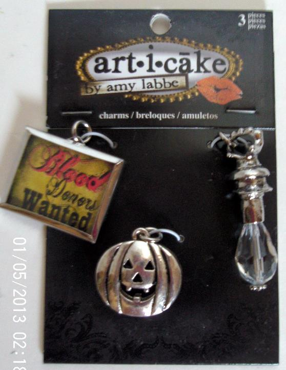 art-i-cake by amy Labbe Halloween Charms Package of Three ...