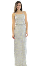 New! Joie Narod New Moon Blue and White Printed Slub Sleeveless Rayon Ma... - $208.00