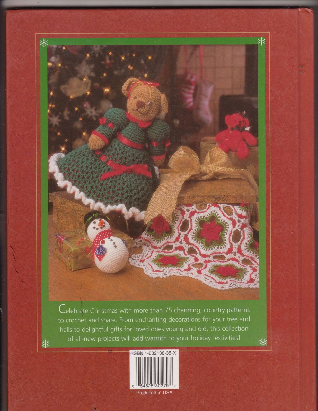 Country christmas crochet hb book afghans gifts ornaments Country christmas gifts to make