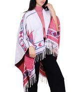 7 Seas Republic Women's Beige Fringe Style Poncho Scarf - $25.99