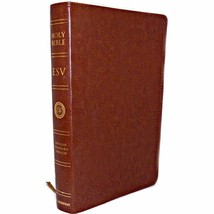 English Standard Version ESV Crossway Premium Thinline Bible Trutone Bro... - $50.99