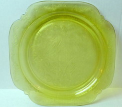 Amber Madrid  Dinner Plate  Federal Glass 1976 Recollection - $13.37