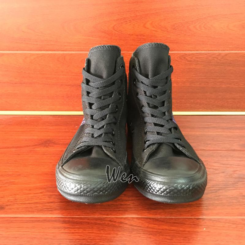 Men Women's Sneakers All Black Converse All Star Joker Design Hand Painted Shoes