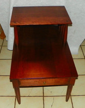 Solid Cherry Mid Century Step End Table / Side Table by Willett - $399.00