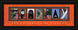 University of Findlay Oilers  Officially Licensed Framed Campus Letter Art - $39.95