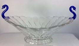 Janice Swan Handles Console Bowl Clear Cobalt B... - $34.95