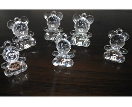 30Pcs New Charms Clear  Acrylic Animal Mother and Child  Bear Pendants - $11.61