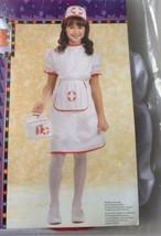 Girls Nurse Costume Halloween Costume Play S M L Dress & Apron Headpiece... - $22.99