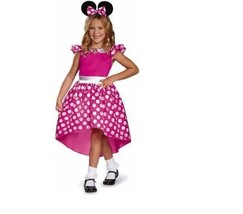 DISNEY'S MINNIE MOUSE HALLOWEEN COSTUME NEW PINK size S Ages 4-6 - $25.08