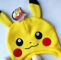 NEW Pokemon Pikachu Pokeball Laplander Knitted Beanie Hat One Size Fits ... - ₨1,188.39 INR