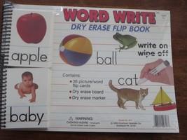 Word Write Dry Erase Flip Book Board Marker ABC... - $7.69