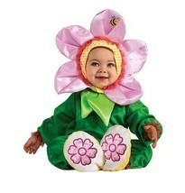 PINK PANSY BABY HALLOWEEN COSTUME NEW Toddler 12-18 MONTHS - $23.36