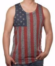 Men's American Flag Tank Top Burnout Graphic Tank Tee Shirt Tee S M L XL... - €15,35 EUR+