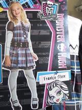 New Monster High Girls FRANKIE STEIN Dress Halloween Costume med 8-10 - $23.36