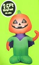 Pumpkin Inflatable Super Jack O Lantern Cape Halloween Airblown Gemmy - $44.88