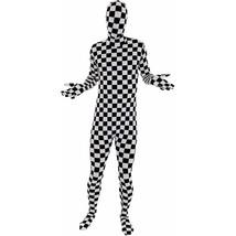 Checkered FLAG Morphsuit Premium Black/White Costume Unisex M Medium 32-... - $45.80