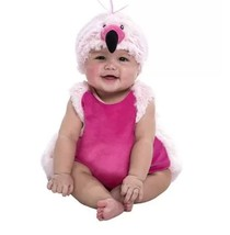 Baby Flamingo Halloween Bubble Costume Plush NEW 9-18 Months - $40.55 CAD