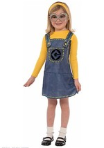 Despicable Me Minion Girls Halloween Costume Set NEW M 8-10 4+ Minion Dress - $36.47