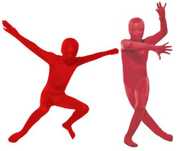 RED Morphsuit Original Morph Suit Second Skin Costume Child Size S M L X... - $28.99