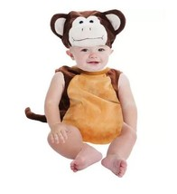 Baby Monkey Halloween Bubble Costume Plush NEW 0-9 Months - $23.36