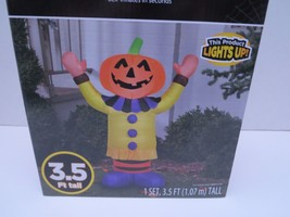Halloween Inflatable Happy Pumpkin Clown Yard Decoration Gemmy Airblown ... - $30.86