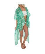 D&Y Printed Kimono Swim Cover-Up Green - £11.08 GBP