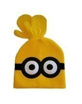 """Despicable Me """"MINION"""" Winter Beanie Hat and Mittens Set Yellow  2-12 Years - ₨1,022.24 INR"""