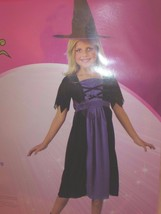 """Witch Child Girl's Halloween Costume S 4-6 39""""-48.5"""" Tall Dress + Hat Se... - $23.36"""