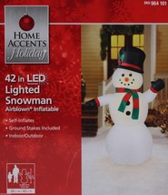 "Airblown Inflatable Snowman LED 42"" NEW Christmas Yard Decoration - $34.27"