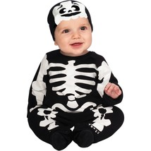 Black and White Skeleton Infant Jumper Onesie Halloween Costume Set 6-12... - $18.68