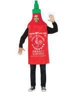 Sriracha Hot Chili Sauce Tunic Adult Costume ONE SIZE NEW - £24.23 GBP