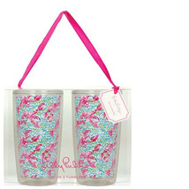 Lilly Pulitzer Insulated Tumbler Set - Lobstah Roll TWO ACRYLIC TUMBLERS... - $22.16