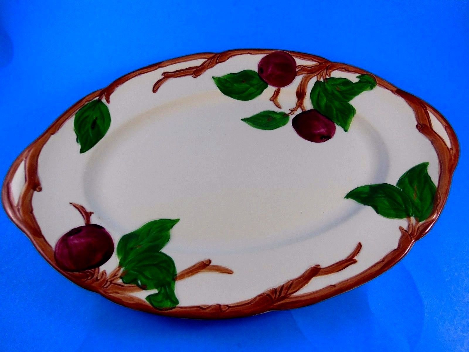 "Primary image for Vintage Franciscan Apple Pattern Oval Shape Dish 1968 Made in U.S.A 8.5"" x 12.5"""