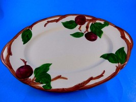 "Vintage Franciscan Apple Pattern Oval Shape Dish 1968 Made in U.S.A 8.5"" x 12.5"" - $17.81"