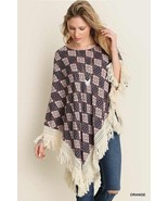 New Umgee USA Woman's Boho Poncho with fringe lightweight beach S/M M/L - $20.99