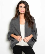 New Gray Poncho Casual Comfy One Size Fits All. - $13.10