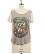 New Free Spirit Graphic Top With Crochet Back. S,M,L - $11.00
